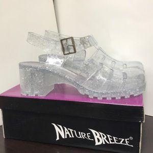 Brash Clear Glitter Jelly Sandals